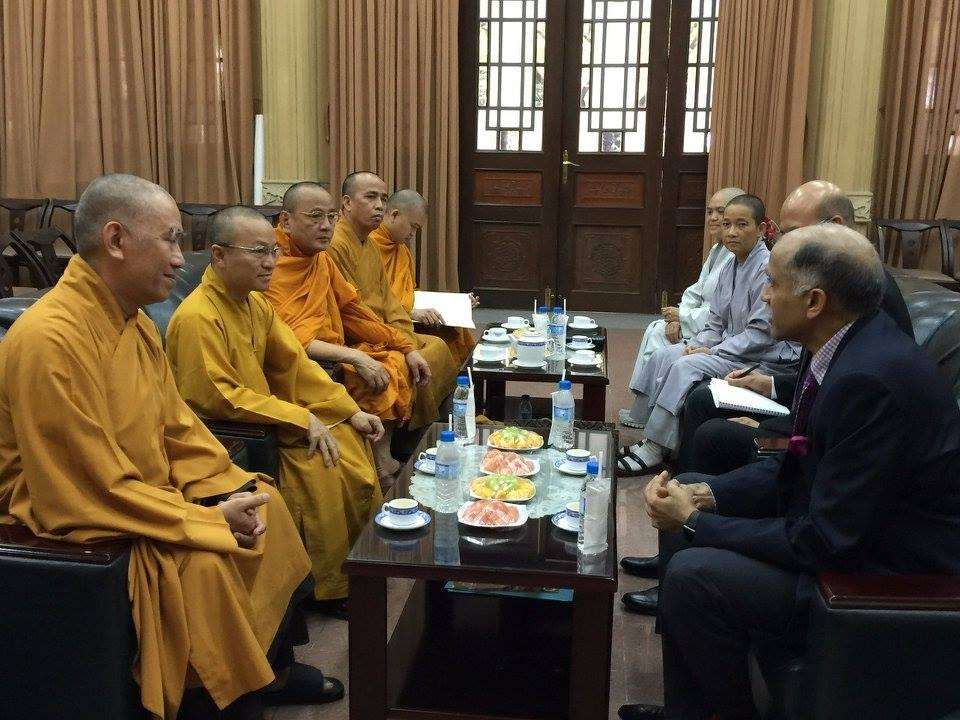Ambassador P. Harish visited the Vietnam Buddhist University (VBU) in Ho Chi Minh City