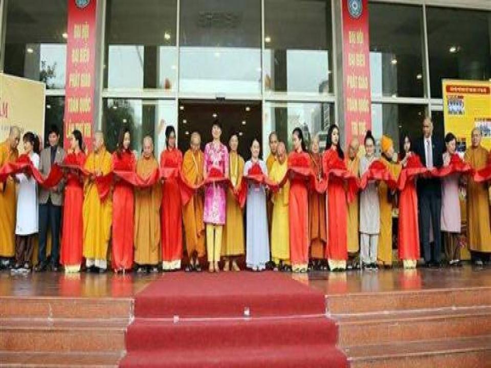 Exhibition on achievements of Vietnam Buddhist Sangha