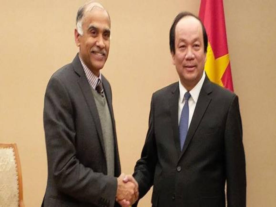 Ambassador P. Harish met with H.E. Mr. Mai Tien Dung, Minister, Government Office on 22 December 2017