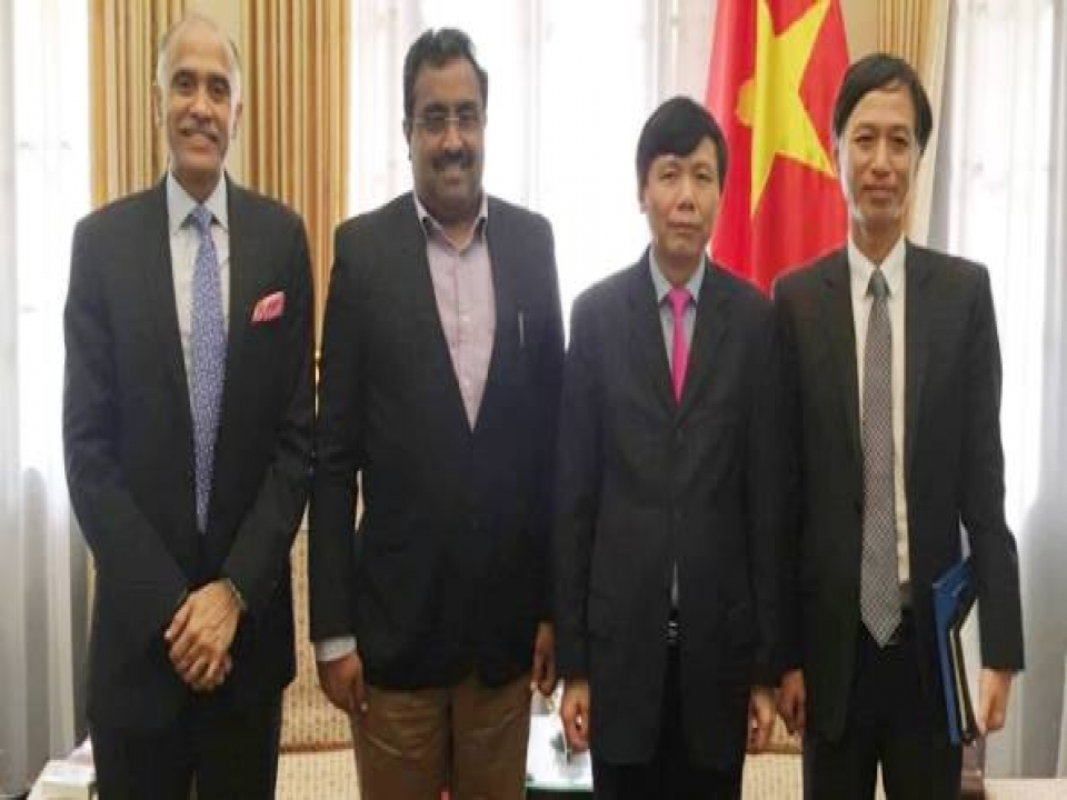 Mr. Ram Madhav in Vietnam - Meeting with VM Foreign Affairs