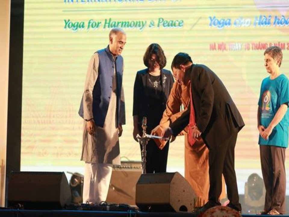 4th International Day of Yoga celebrations in Hanoi