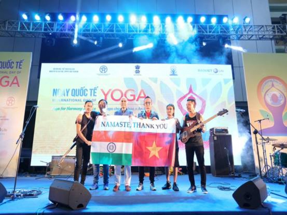 Rattle and Hum Band from Nagaland performing in IDY 2018 in Hanoi