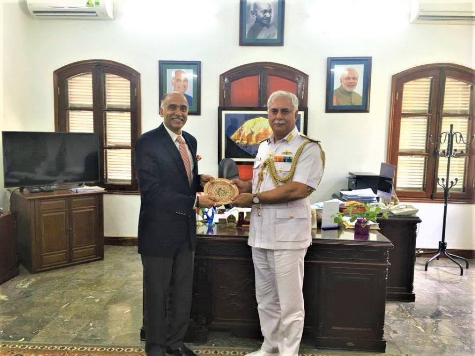 Ambassador P. Harish met with the visiting Chief of Materiel of Indian Navy Vice Admiral Gurtej Singh Pabby