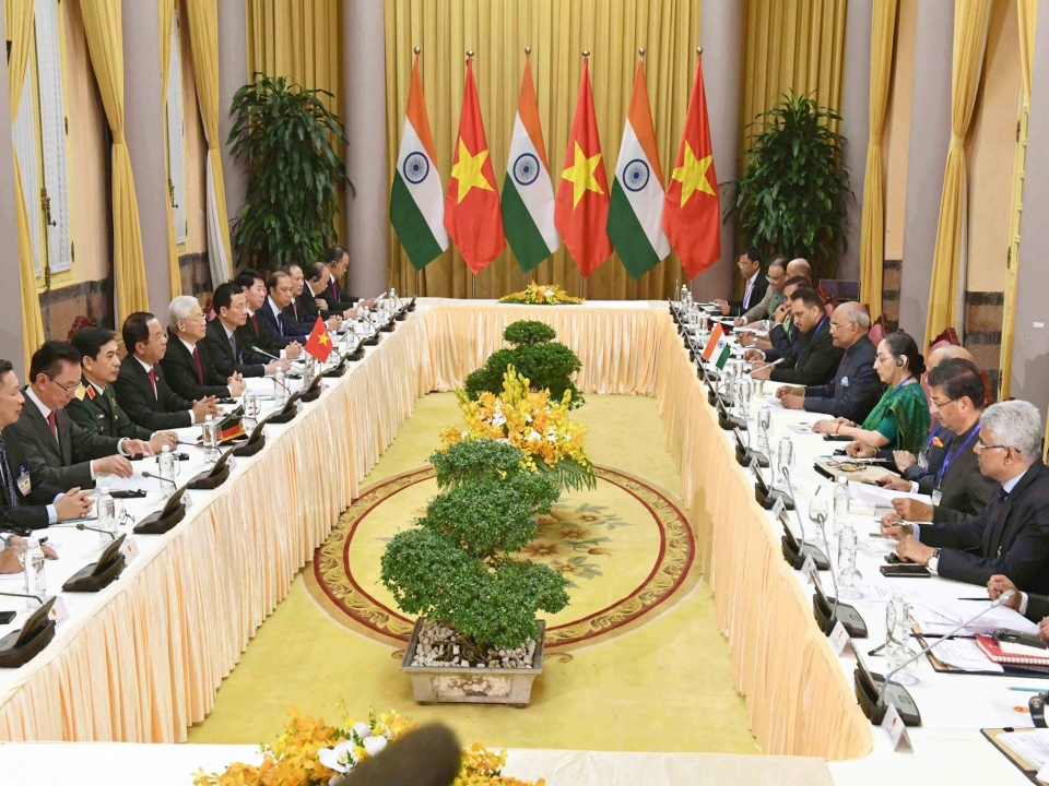 Bilateral talks between two delegations