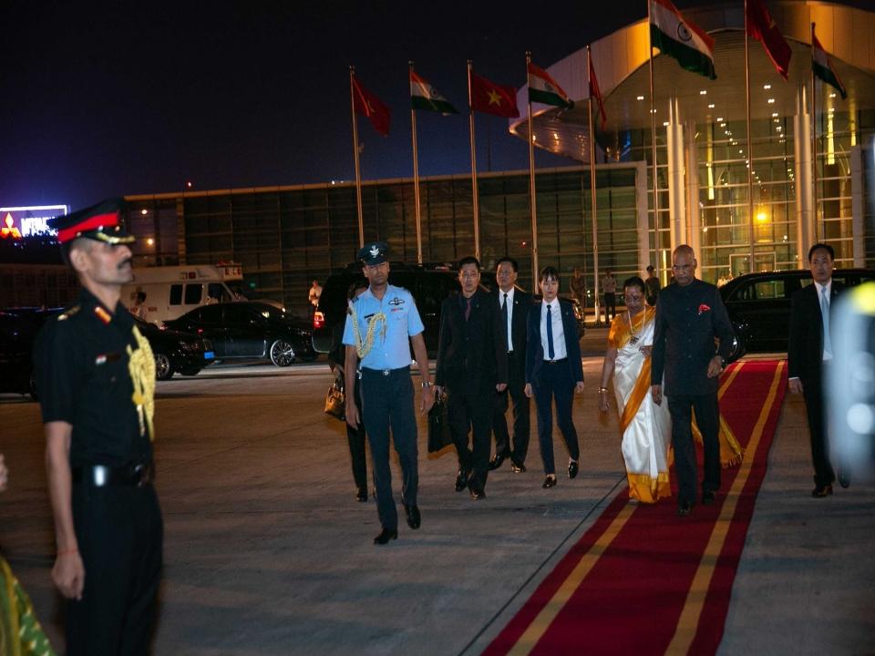 Rashtrapatiji departs Vietnam
