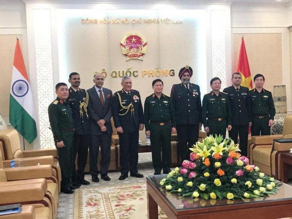 Call on Defence Minister of Vietnam for Chief of Army Staff