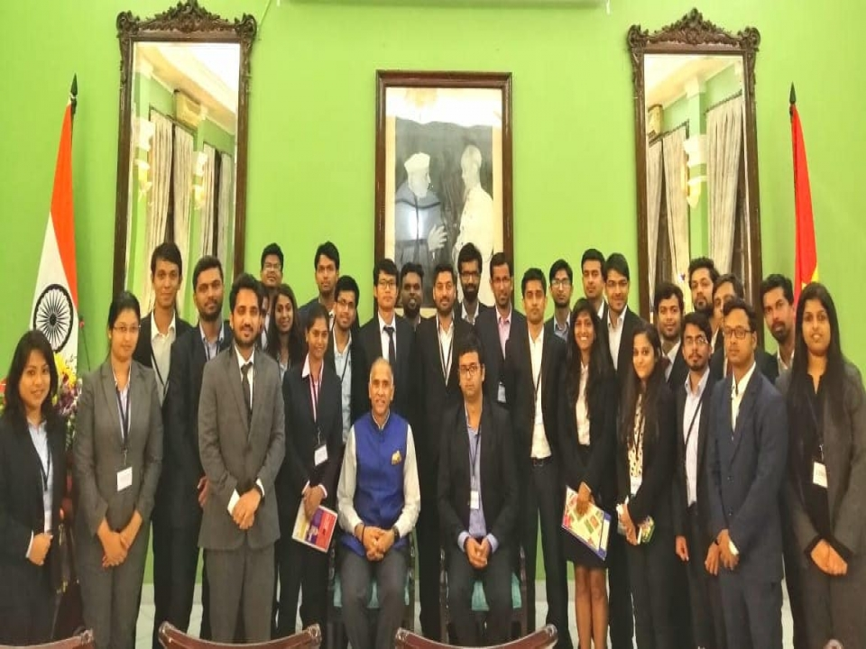 Interaction with a group of students from IIM Banagalore