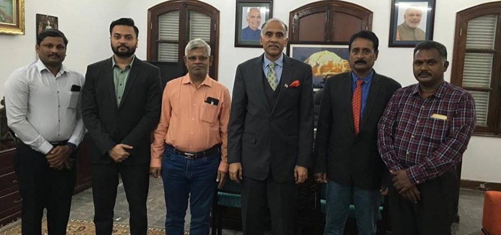 Ambassador P. Harish met the team of Archaeological Survey of India which is in Vietnam for the third season of conservation and restoration work of the A, K and H group of temples at the UNESCO World Heritage site of My Son in Vietnam.