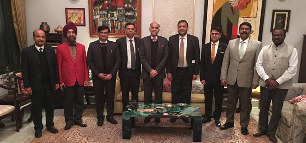 Ambassador P. Harish hosted a dinner for the visiting Commerce Secretary Dr. Anup Wadhawan and accompanying delegation to the 4th meeting of the India-Vietnam Joint Sub-Commission on Trade on 22 January 2019.