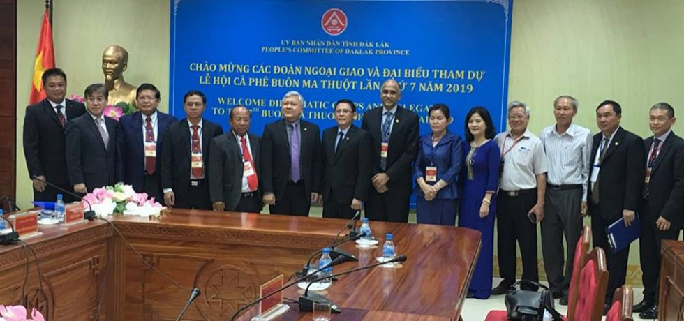 Ambassador P. Harish and Mrs. P. Nandita attended The 7th Buon Ma Thuot Coffee Festival 2019 in Vietnam's coffee capital of Buon Ma Thuot in Dak Lak Province. He held meetings with Mr. Nguyen Tuan Ha, Vice Chairman of the People's Committee of the Province and Mr. Pham Minh Tanh, Standing Deputy Provincial Party Secretary.