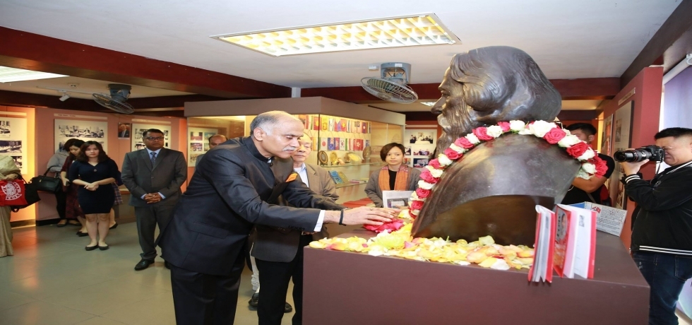 Gurudev Rabindranath Tagore in Saigon@90- Floral Tribute Ceremony