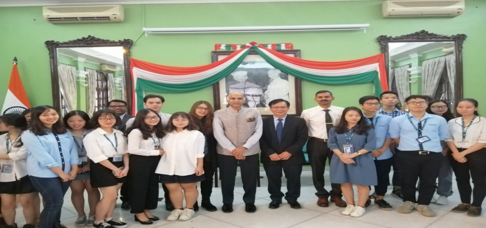 Ambassador P. Harish interacted with a group of students of Diplomatic Academy of Vietnam led by Amb. Ton Sinh Thanh, former Ambassador of Vietnam to India.