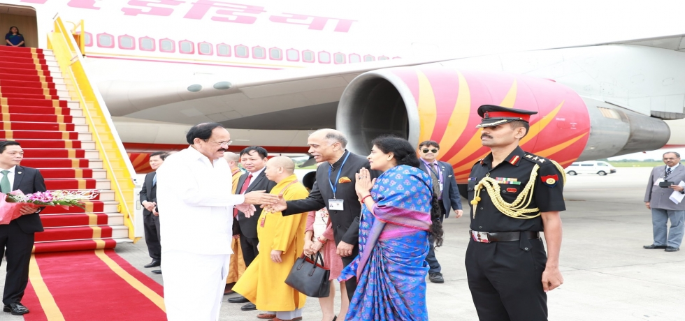 Arrival of Hon'ble Vice President to Vietnam