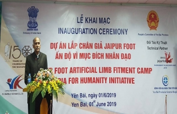 Inauguration of Jaipur Foot Camp in Yen Bai Province