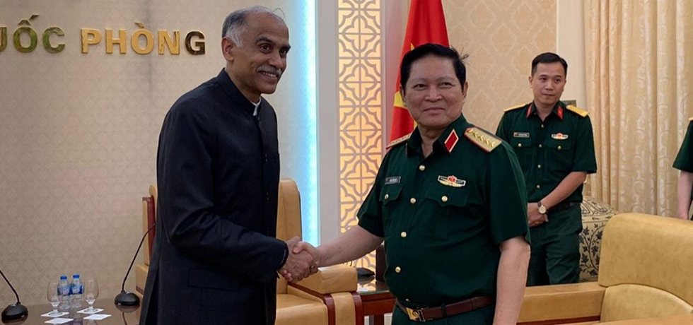 Ambassador P. Harish had a farewell call on H.E. General Ngo Xuan Lich, Member of the Politburo and Minister of National Defence of Vietnam on 17 June 2019.
