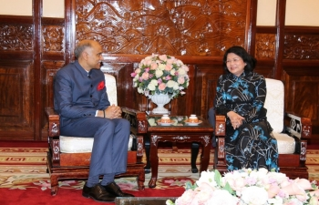 Farewell call on Vice President of Vietnam.