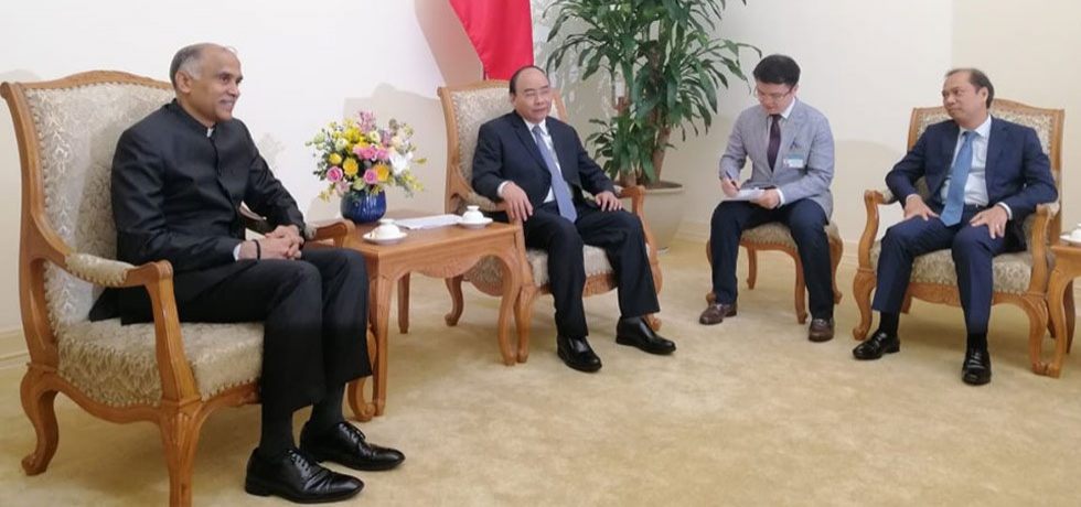 Ambassador P. Harish had a farewell call on H.E. Mr. Nguyen Xuan Phuc, Member of the Politburo and Prime Minister of Vietnam on 17 June 2019.