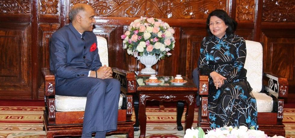 Ambassador P. Harish had a farewell call on H.E. Madam Dang Thi Ngoc Thinh, Vice President of Vietnam on 12 June 2019.
