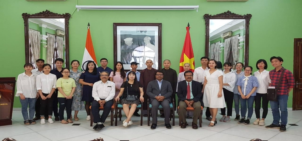 A get together and see off event for the 1st batch of ICCR Scholarship Awardees-2019 was organised at the Embassy of India, Hanoi on 02 July, 2019.