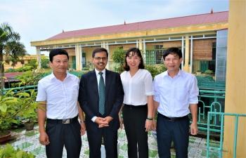 Ambassador visits Nam Dinh Province