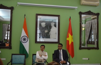 Ambassador Pranay Verma hosted a luncheon interaction with Vietnamese media persons on 12th August at the Embassy premises, during which he elaborated on various aspects of India-Vietnam Comprehensive Strategic Partnership, India's foreign and economic policies and the future prospects for India-Vietnam relations.