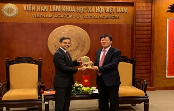 Ambassador Pranay Verma met the President of Vietnam Academy of Social Sciences (VASS), Prof. Dr. Nguyen Quang Thuan on 16 August and discussed exchanges and cooperation between VASS and various institutes in India
