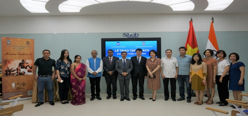Embassy of India in Hanoi organised an event to gift books to the Vietnam National Library on 19 August, 2019. The books were gifted by the Ambassador of India Mr. Pranay Verma to the Vietnam National Library, under the initiative 'An introduction to India - Sharing Knowledge with the World' of the Ministry of External Affairs of the Government of India.