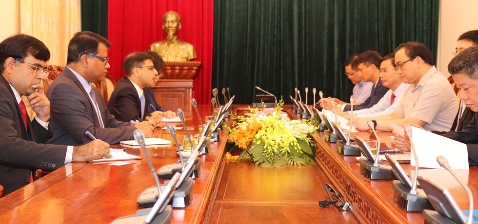 Ambassador Pranay Verma met with the Party Secretary of Hanoi City and Member of Politiburo of the Communist Party of Vietnam H.E. Mr. Hoang Trung Hai on 6 September 2019.