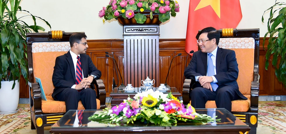 Ambassador called on the Deputy Prime Minister and Foreign Minister of Vietnam, H.E. Mr. Pham Binh Minh at the Foreign Ministry in Hanoi on 20 September 2019.