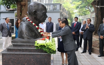 Embassy celebrates 150th Birth Anniversary of Mahatma Gandhi