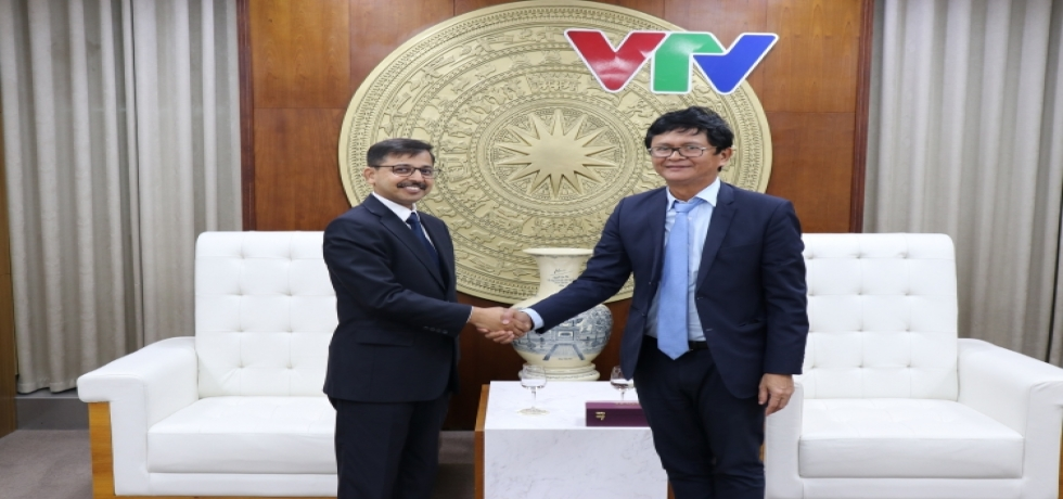 Ambassador meets with the President of Vietnam Television, Mr. Tran Binh Minh