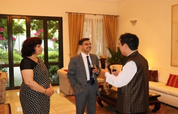 Ambassador Pranay Verma hosted a group of senior scholars and academicians from some of the key think-tanks and institutions in Vietnam on 24 October 2019. #India #Vietnam