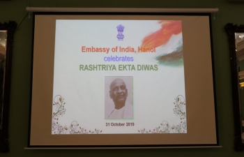 Rashtriya Ekta Diwas / National Unity Day – 2019