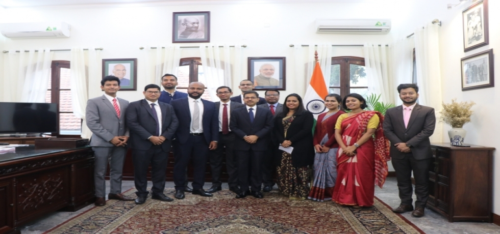 Embassy welcomes the Officer Trainees of 2019 batch of the Indian Foreign Service
