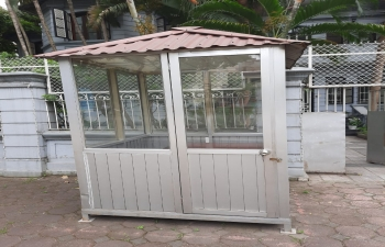 Sale of used pre-fabricated portable Security Booth in Embassy of India, Hanoi