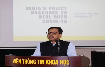 Ambassador was invited by the Centre of Indian Studies at the Ho Chi Minh National Academy of Politics (HCMNAP) on 2 July 2020