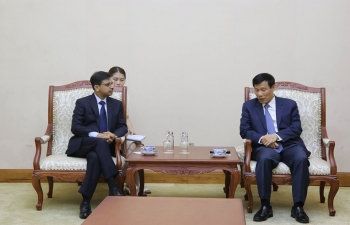 Ambassador met the Minister of Culture, Sports and Tourism of Vietnam, H.E. Mr. Nguyen Ngoc Thien on 3 July 2020. They recalled the deep civilizational and cultural connection between India and Vietnam and underlined the importance of cultural and people-to-people exchanges in taking forward the Comprehensive Strategic Partnership between the two countries.