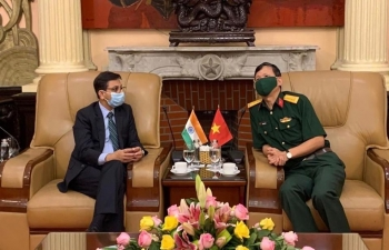 Ambassador met the Director of Institute for Defence Strategy (IDS) of Vietnam, Senior Col. Vu Cuong Quyet on 6 August 2020