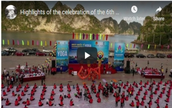Highlights of the celebration of the 6th International Day of Yoga 2020 at Ha Long Bay