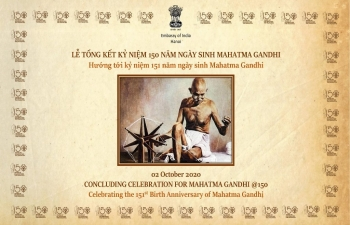 Mahatma Gandhi's 151st Birth Anniversary was celebrated by the Embassy of India, Hanoi, in its premises on October 2, 2020.