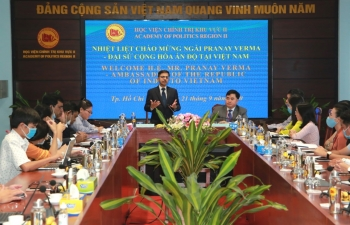 Ambassador Visits Academy of Politics, Ho Chi Minh City