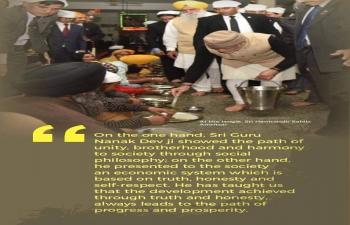 Celebrating Shri Guru Nanak Dev Ji's 551st birth anniversary.