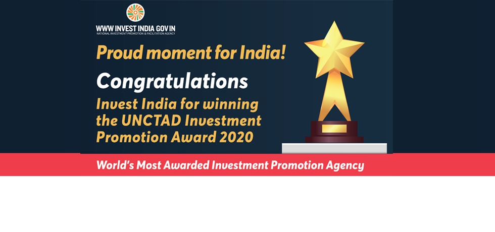 Congratulations Invest India for winning the prestigious UNCTAD Investment Promotion Award 2020!