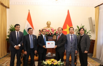Handing Over of Flood Relief Material to Vietnam