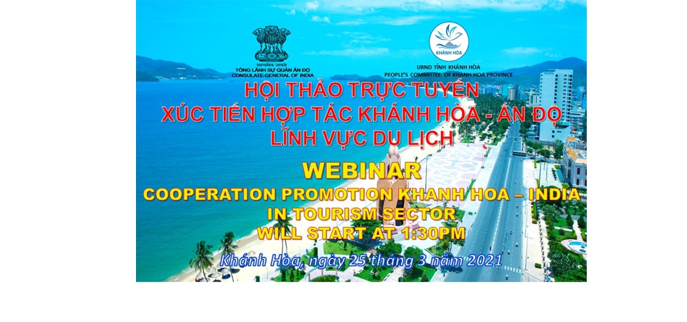 Webinar on India's cooperation with Khanh Hoa Province