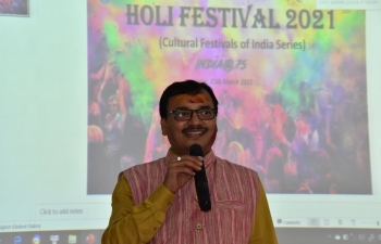 India@75: Embassy Marks Celebration of the Festival of Color at USSH (25 March 2021)