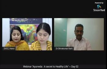 India@75: Webinar on Ayurveda: A Secret to Healthy Life (30-31 March 21)