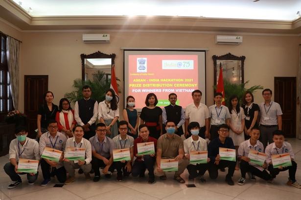 India@75: ASEAN-India Hackathon Prize Distribution at Embassy