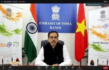 "India@75: Webinar on ""Cultural Meet between India and Vietnam"""