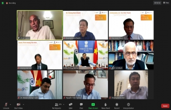 """India@75: Webinar on """"India as an Emerging Global Power and its Relationship  with Vietnam"""""""